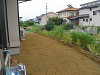庭土の入れ替え工事