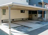 大型カーポート付きの駐車場も作れます!